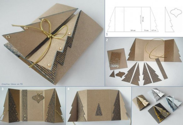 DIY-ideas-and-tutorials-christmas-cards-from-cardboard-585x401
